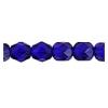Fire polished 6mm Cobalt Blue Strung